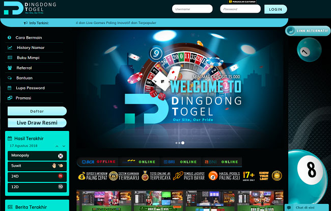 Link Alternatif Dingdongtogel 2018